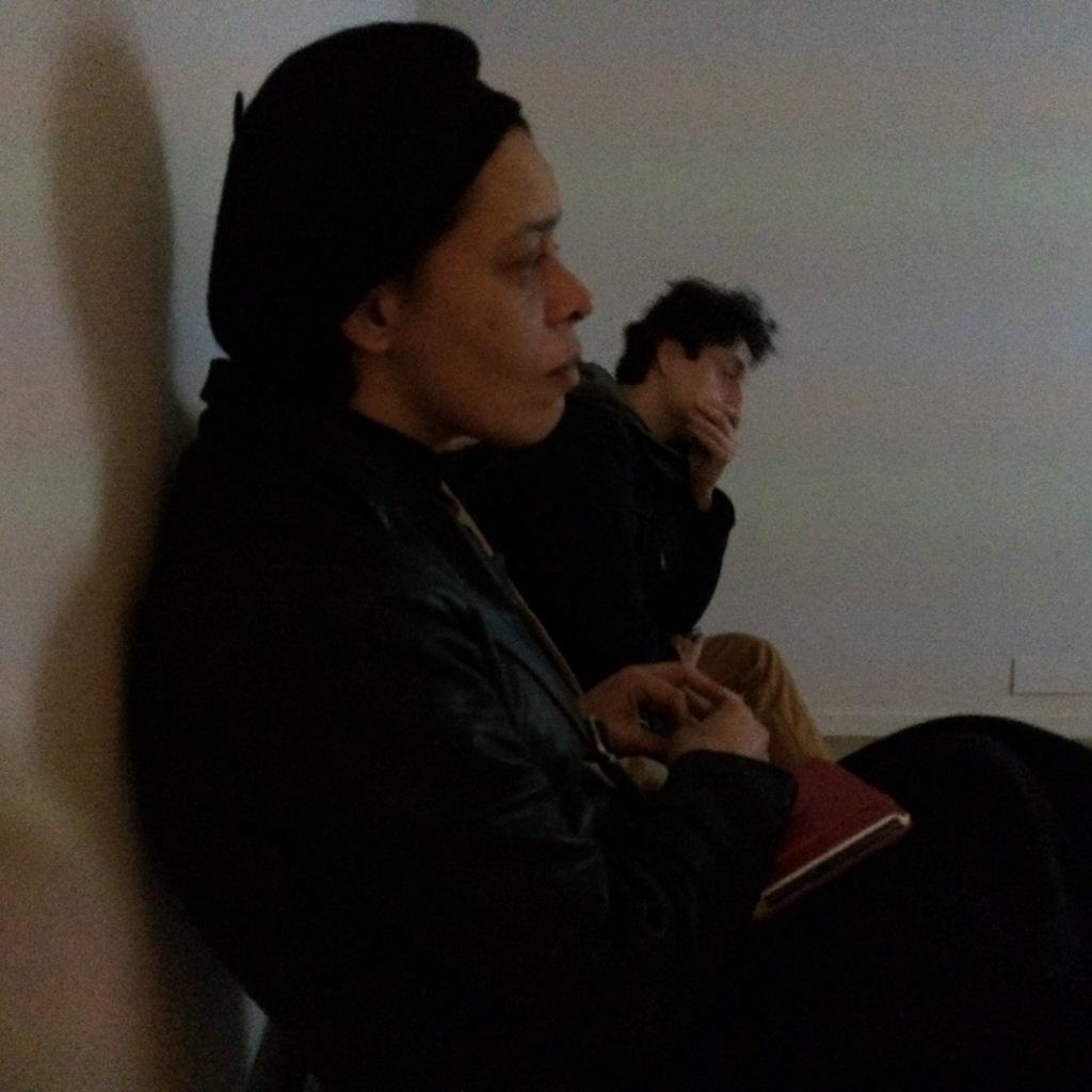 """devant la projection de """"Toute la mémoire du monde"""" d'A.Resnais"""